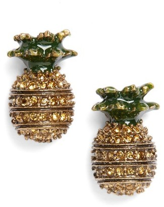 Women's Marc Jacobs Pineapple Stud Earrings $55 thestylecure.com