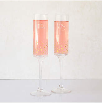 Cathy's Concepts Cathys Concepts Mr. & Mrs. Gold Dotted Champagne Flutes Set Of 2