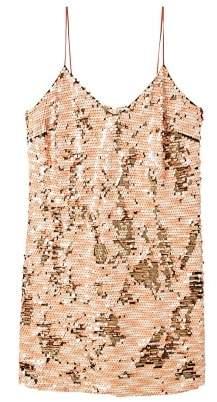 Violeta BY MANGO Reversible sequins dress