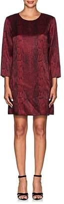 Nina Ricci WOMEN'S SNAKESKIN-PRINT SHIFT DRESS