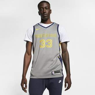 Nike Marc Gasol City Edition Swingman (Memphis Grizzlies) Men's NBA Connected Jersey