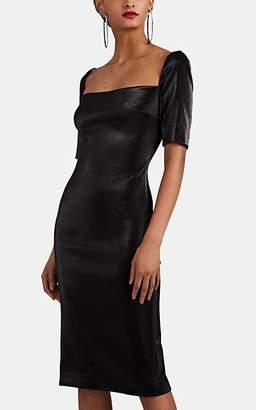 Area Women's Cotton-Blend Lamé Fitted Dress - Black