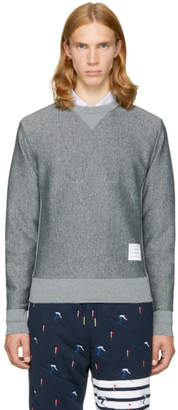 Thom Browne Grey Quilted Argyle Classic Sweatshirt