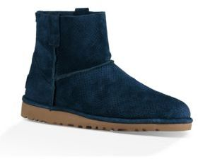 UGG Classic Unlined Mini Perforated Suede Booties $120 thestylecure.com