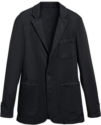 Burberry Slim Fit Linen Cotton Tailored Jacket
