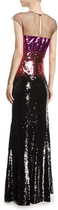 Sachin + Babi Cappadocia Tricolor Sequin Mermaid Gown
