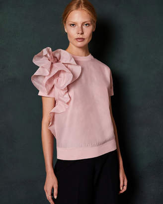 Ted Baker ANABANE Ruffle detail knitted top