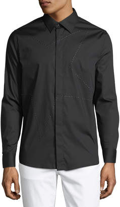 Karl Lagerfeld Paris Men's Star-Studded Sport Shirt