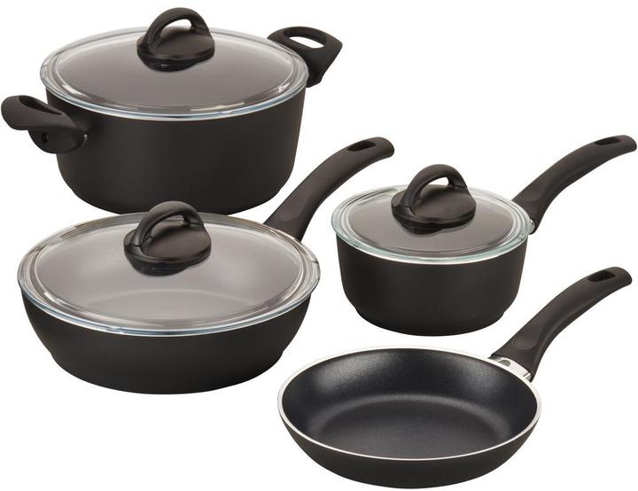 Ballarini Ballarini Pisa 7-Piece Black Cookware Set with Lids