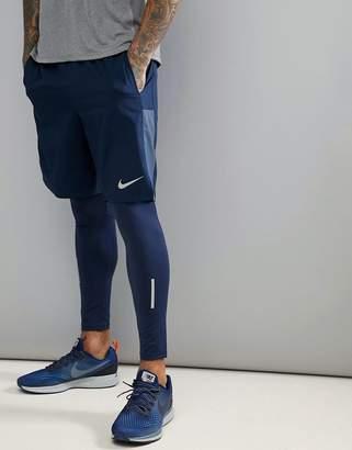 Nike Running Flex Challenger 9 Inch Shorts In Navy 898890-451