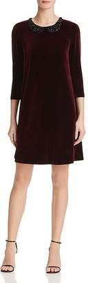 Betsey Johnson Embellished Velvet Dress