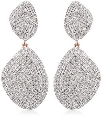 Monica Vinader RP Nura Double Teardrop Cocktail Diamond earrings