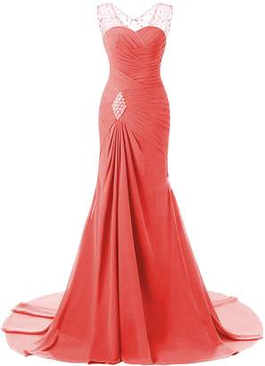 Lily Wedding Womens Mermaid Prom Bridesmaid Dresses 2018 Long Evening Formal Party Ball Gowns FED003