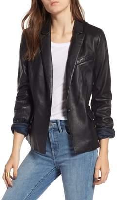 Treasure & Bond Leather Blazer