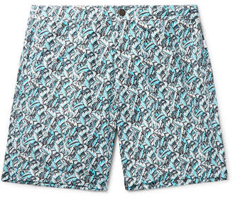 Onia Mid-Length Printed Swim Shorts