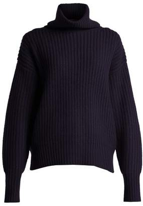 Joseph Ribbed Roll Neck Sweater - Womens - Navy