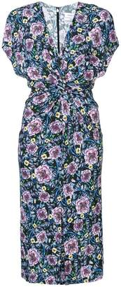 Prabal Gurung front twist floral dress