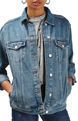 Women's Topshop Moto Western Denim Jacket $85 thestylecure.com