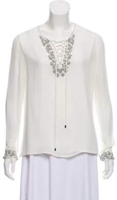 Rebecca Minkoff Silk Beaded Blouse