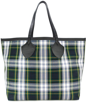 Burberry Giant Reversible Tote in Tartan Cotton