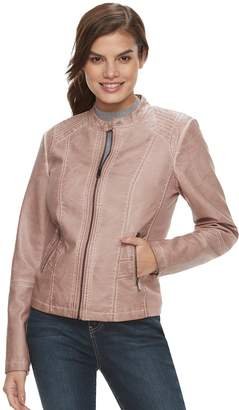 Moto Women's Sebby Collection Trapunto Faux-Leather Jacket