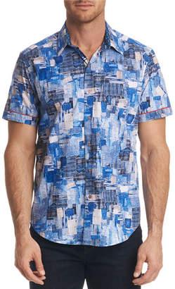 Robert Graham Men's Canberra Classic Fit Graphic Short-Sleeve Sport Shirt