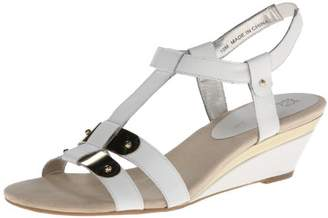 Anne Klein AK Women's Narelle Leather Wedge Sandal