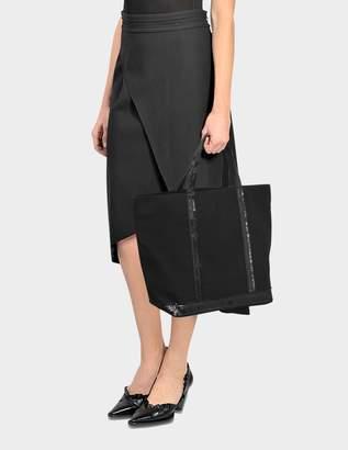 Vanessa Bruno Sequin and Canvas Medium Tote Bag in Black Cotton
