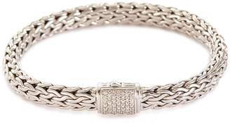 John Hardy 'Classic Chain' diamond silver medium bracelet