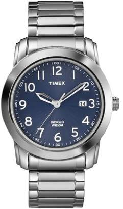 Timex Men's Highland Street Watch, Silver-Tone Stainless Steel Expansion Band
