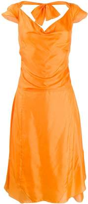Celine Pre-Owned ruched A-line dress