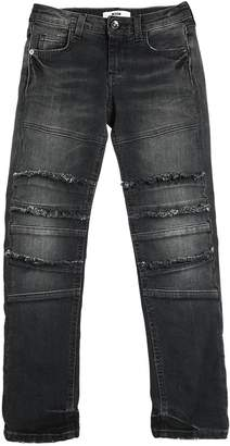 MSGM Stretch Denim Jeans W/ Frayed Details