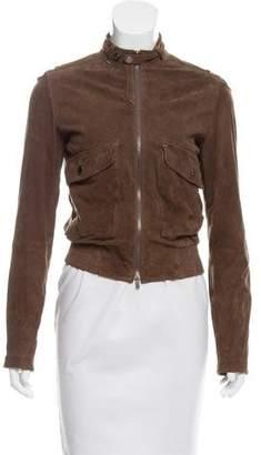 Emporio Armani Suede Zip-Up Jacket