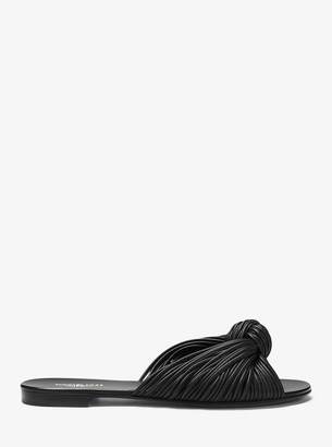 Michael Kors Serena Knotted Leather Slide