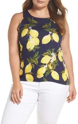 Glamorous Lemon Print Sleeveless Top