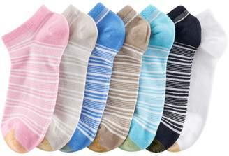 Gold Toe Goldtoe Women's GOLDTOE 6-pk. French Stripe Soft Liner Socks + Plus Bonus Pair