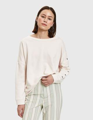 Terry Snap Sleeve Sweatshirt