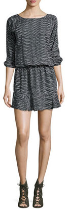 Soft Joie Arryn Printed 3/4-Sleeve Dress, Black $178 thestylecure.com
