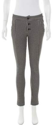 Thakoon Patterned Mid-Rise Pants