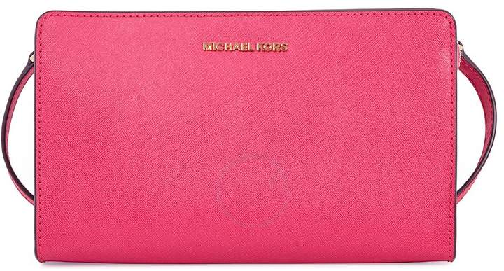 Michael Kors Jet Set Large Crossbody Clutch - Ultra Pink - ONE COLOR - STYLE