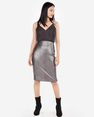 Express High Waisted Metallic Snake Pencil Skirt