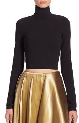 Ralph Lauren Collection Carmen Cropped Turtleneck Top