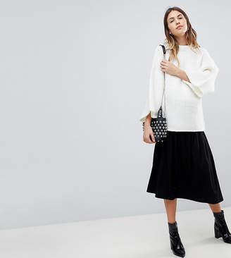 Asos DESIGN Maternity midi skirt with box pleats
