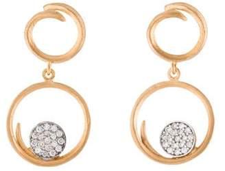 Reiss I. 14K Diamond Drop Earrings