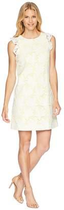 Tahari ASL Ruffle Sleeve Novelty Sheath Dress Women's Dress