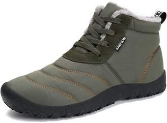 d31f3d6c60603 Voovix Women s Snow Boots Winter Warm Fur Lined Ankle Booties Waterproof  Non Slip Outdoor Shoes(