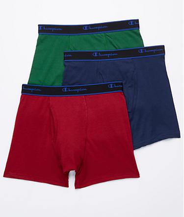 Champion Cotton Performance Short Leg Boxer Brief 3-Pack