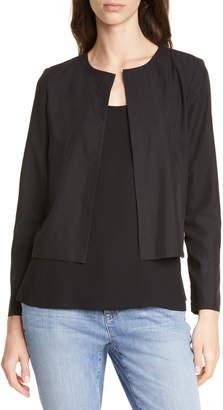 Eileen Fisher Crop Tencel® Lyocell Blend Jacket