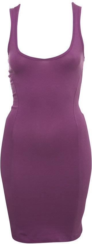 Purple Elasticated Muscle Vest