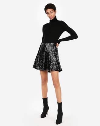 Express Sequin A-Line Skirt